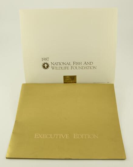 Lot # 4573 -1987 Robert Bateman Executive Edition National Fish and Wildlife stamp print with