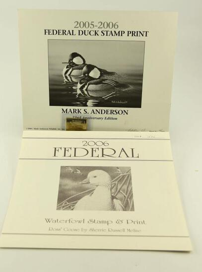 Lot # 4586 - (2) 2006 Federal Duck Stamp prints both unframed signed and numbered by artists to
