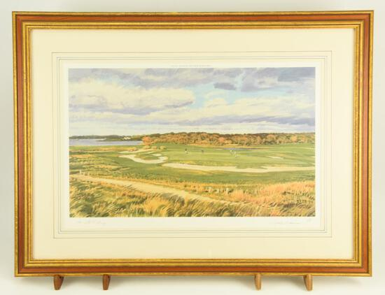 "Lot # 4051 - ""6th Green, National Golf Links of America"" limited edition print by Arthur Weaver."