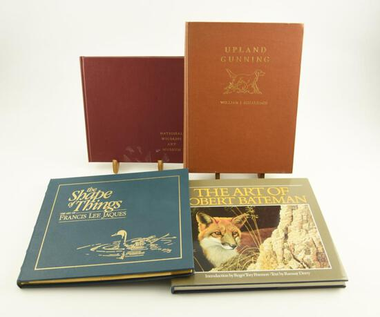 "Lot # 4054 - (4) Wildlife art related books to include ""The Shape of Things-The Art of Francis"