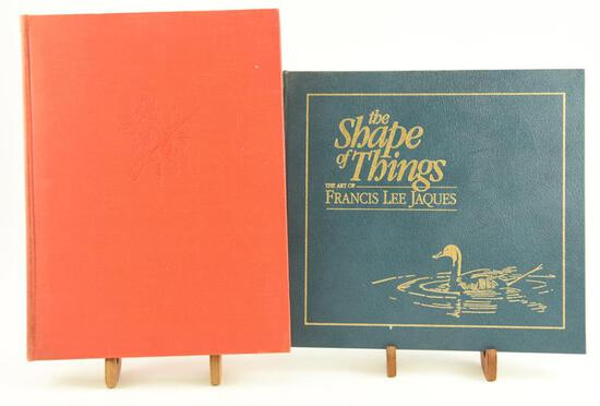 "Lot # 4056 - (2) Wildlife art related books to include ""The Shape of Things-The Art of Francis"