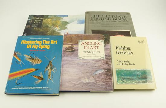 "Lot # 4057 - (6) Fishing and art related books to include ""Fishing the Flats"" by Mark Sosin &"