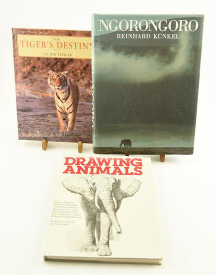 "Lot # 4058 - (3) Wildlife art related books to include ""Drawing Animals"" by Norman Adams & Joe"