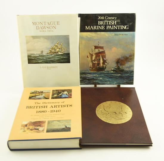 "Lot # 4059 - (4) Art & collecting related books to include ""Montague Dawson R.S.M.A."" by L.G.G."