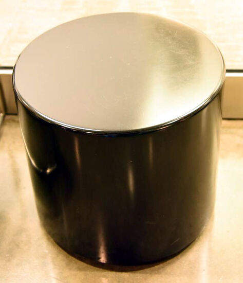 "Lot #1257 - Commercial black matte finish 17"" cylinder end table"