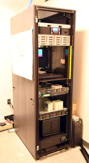 Lot #1263 - Entire contents of IT Computer Closet to include Tandberg Data control system with