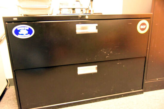 "Lot #1266 - Hon Commercial two door horizontal file cabinet (28"" x 42"" x 18"")"