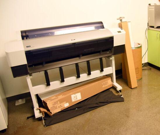 "Lot #1466 -Epson Stylus Pro 9800 model K132A Large Format 44"" printer, Epson Stylus Pro 4000,"