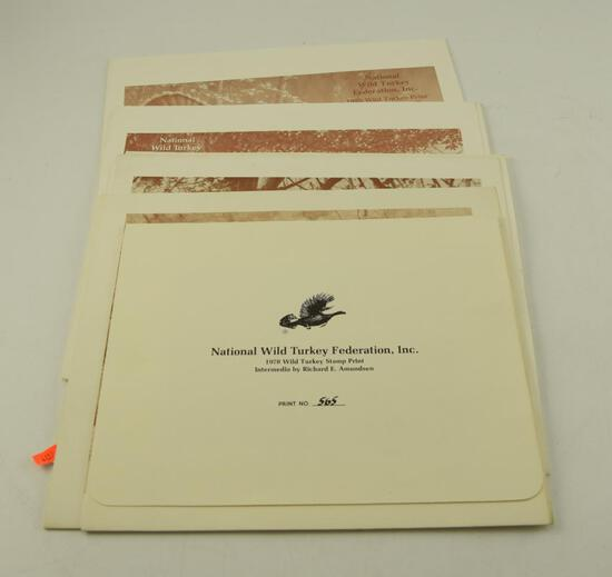 "1987 Wild Turkey Federation Print ""The Clearing"" by Jim Killen, 1986 NWTF print ""Bearded Bronze"