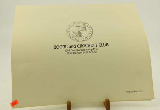 (~65) Boone and Crockett Club Conservation stamp prints all are 1982 Whitetail Deere by Bob Kuhn
