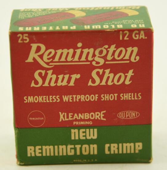 "Vintage box of Remington Shur Shot 12 gauge 2¾"" 8 shot unopened"