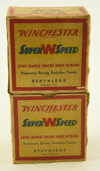 """(2) Full boxes of Vintage Winchester Super Speed 12 gauge 2 ¾"""" 6 shot unopened 50 shells total"""