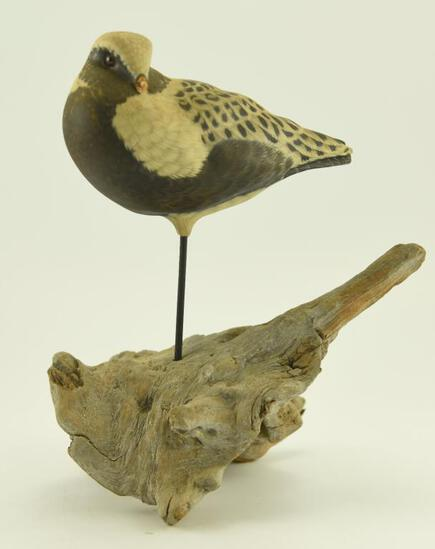 Lot #333 - Superb Donald McKinlay (World Champion Carver) Standing Life-Size Golden Plover on