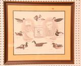 "Lot #519 -Framed Paul W. Shertz print of ""L.T. Ward Bro"" signed by Lem Ward and Paul Shertz"