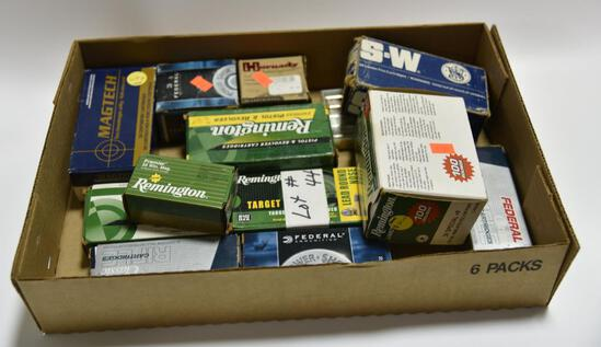 Lot #11 -Box of Misc pistol ammo and partial boxes of pistol ammo to include but not limited