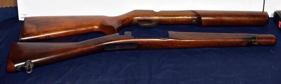 "Lot #13 -(4) Gun rifle stocks: 27"", 29"", 29½"" and 30"""