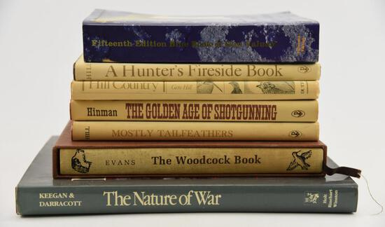 Lot #19 -Several gun related books: The Nature of War, The Woodcock Book, Fifteenth Edition Blue