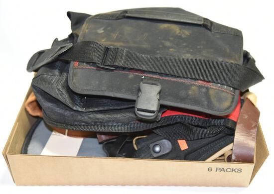 Lot #20 -Browning Shot Pouch, Modella shot bag Soft sided rifle case, Bianchi Pistol holster,