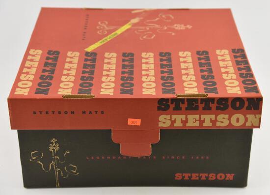 "Lot #21 -Stetson Open Road model 61 Silver Belly size 7 1/8"" in original box"