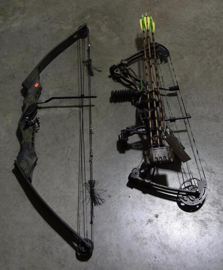 Lot #3 -Martin Equalizer Compound bow with (3) Easton Arrows and pack of Eskilite broad heads