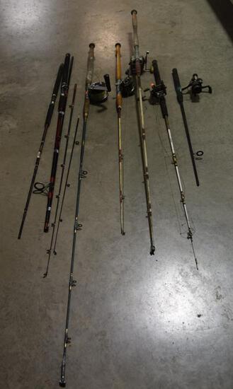 Lot #4 -Vintage fishing rod lot Penn model 149 level wind combo, (2) Penn No. 88 level wind