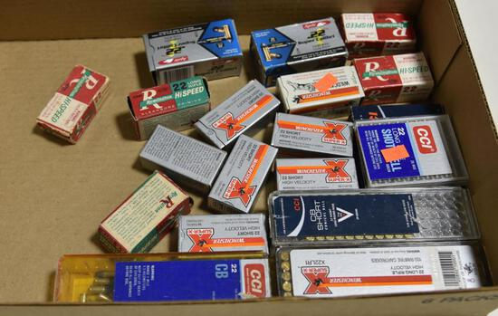 Lot #5 -Approx. (20) boxes of .22 ammo in both .22 long and .22 short to include but not limited