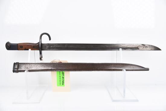 Lot #204 - Japanese Type 30 Bayonet w/scabbard