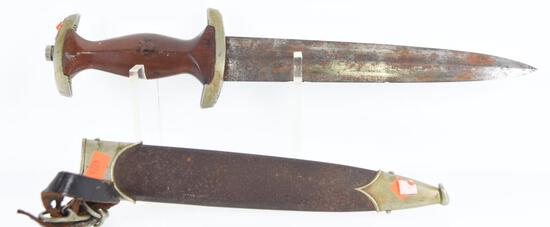 German SA Dagger with Scabbard. Blade is Rusty