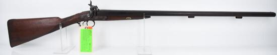 MANUFACTURER/IMP BY: Perkins, MODEL: Percussion SBS, ACTION TYPE: Side by Side Shotgun, CALIBER