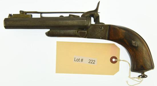 MANUFACTURER/IMP BY: Unknown Manufacturer (Belgian), MODEL: Double Barrel Pistol w/kn, ACTION