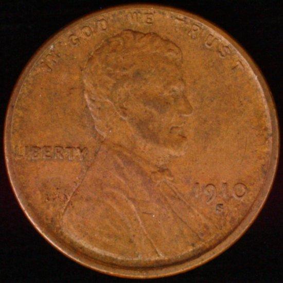 1910-S U.S. Lincoln cent