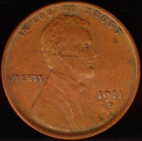 1911-D U.S. Lincoln cent