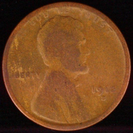1912-S U.S. Lincoln cent