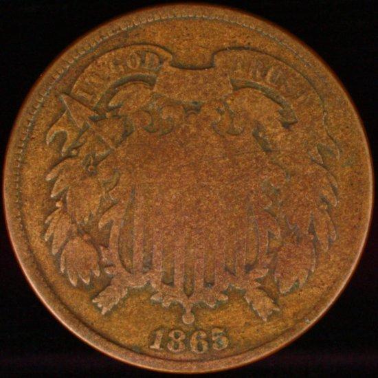 1865 U.S. 2-cent piece