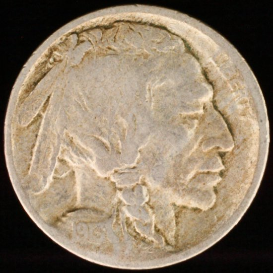 1913-D type 1 U.S. buffalo nickel