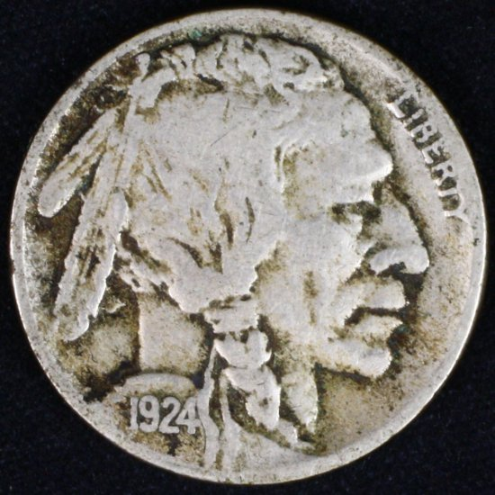 1924-S U.S. buffalo nickel