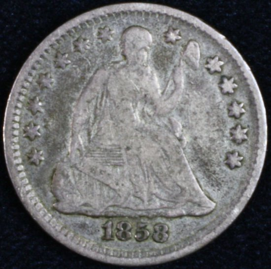 1858 U.S. seated Liberty half dime