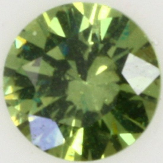 Round brilliant demantoid garnet