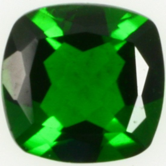Cushion-cut chrome diopside