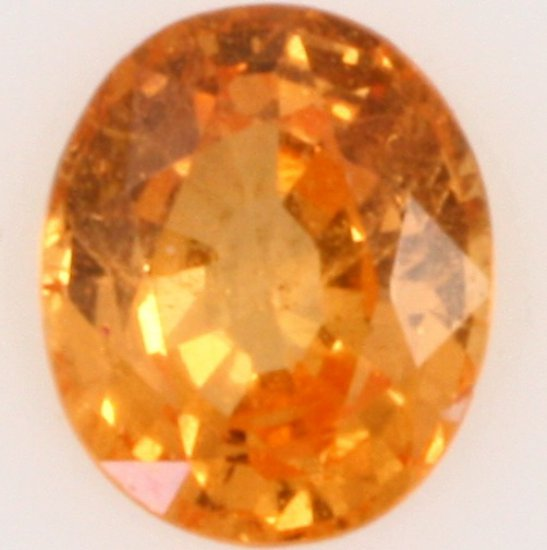 Oval-cut spessartite garnet