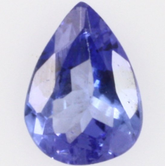 Pear-cut tanzanite
