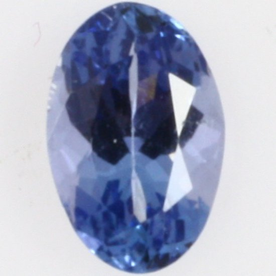 Oval-cut tanzanite