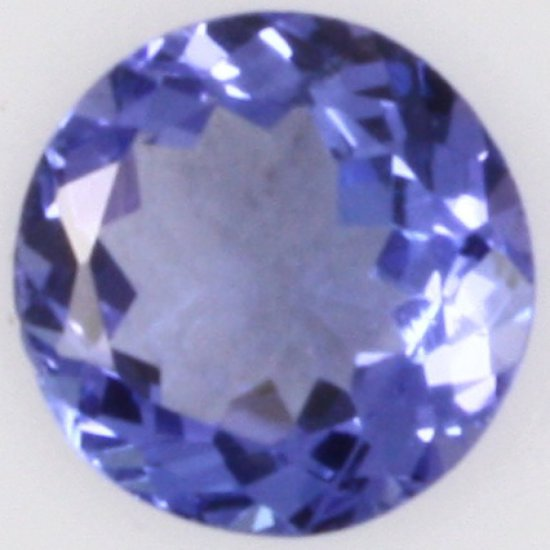 Round brilliant tanzanite