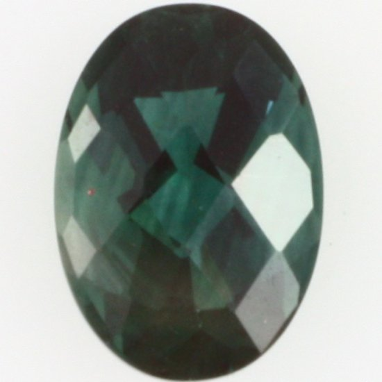 Oval-cut green labradorite