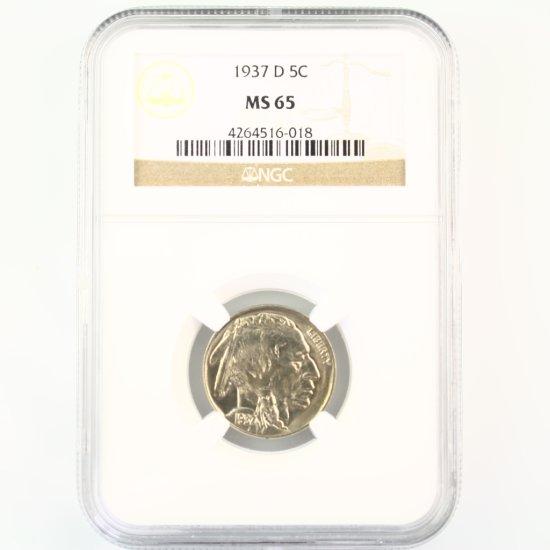 Certified 1937-D U.S. buffalo nickel