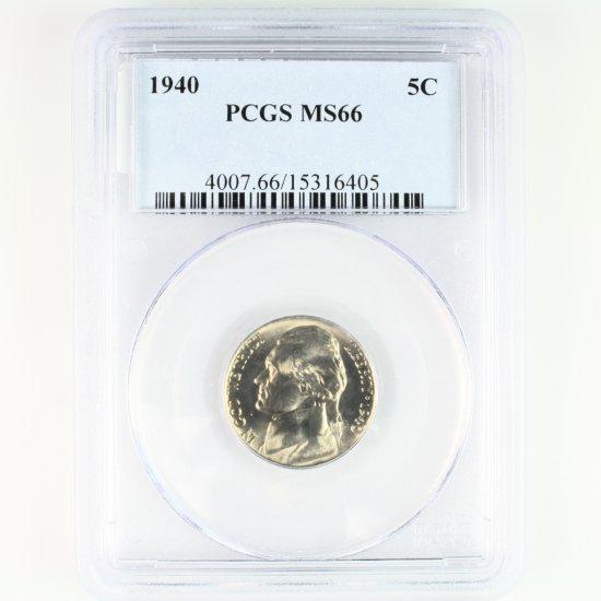 Certified 1940 U.S. Jefferson nickel