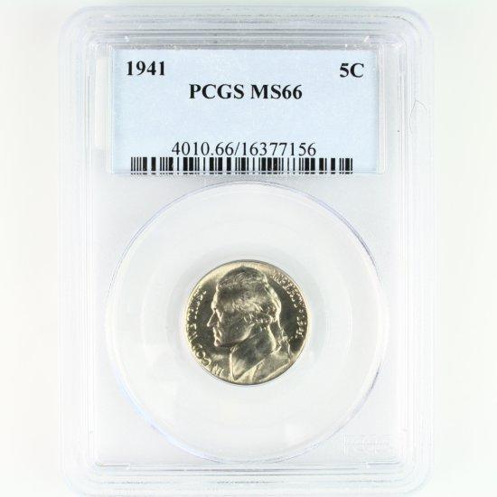 Certified 1941 U.S. Jefferson nickel