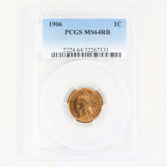 Certified 1906 U.S. Indian cent