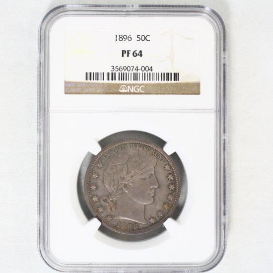 Certified 1896 U.S. Barber half dollar