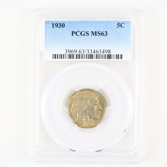 Certified 1930 U.S. buffalo nickel